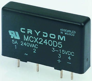 Sensata / Crydom 5 A SPST Solid State Relay, Instantaneous, PCB Mount, SCR, 660 V rms Maximum Load