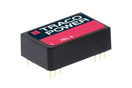 TRACOPOWER TEL 3 3W Isolated DC-DC Converter Through Hole, Voltage in 18 → 36 V dc, Voltage out 5V dc