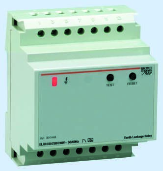 1P 8 A, Instantaneous RCD, Trip Sensitivity 30mA, DIN Rail Mount