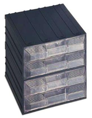 Terry, Plastic 4 Drawer Storage Unit, 208mm x 208mm x 222mm
