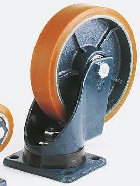 LAG Swivel Swivel Castor, 1000kg Load Capacity, 200mm Wheel Diameter