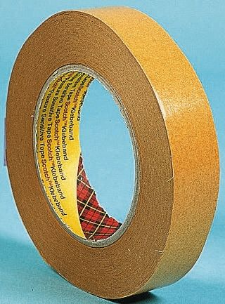 9040 Beige Double Sided Paper Tape, 50mm x 50m, 0.1mm Thick product photo