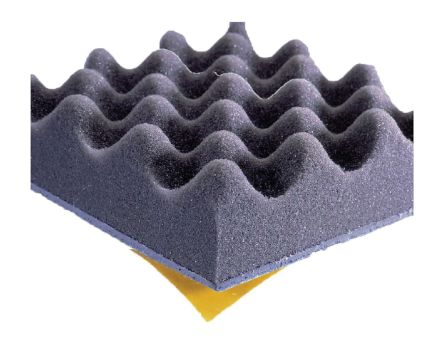 Adhesive PUR Foam Soundproofing Sheet, 700mm x 500mm x 50mm product photo
