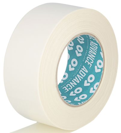 AT308 White Double Sided Cloth Tape, 50mm x 25m, 0.25mm Thick product photo