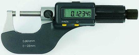 External Digital Micrometer,0-25mm/0-1in