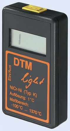 Electrotherm DTM-L Digital Thermometer, 1 Input Handheld, K Type Input