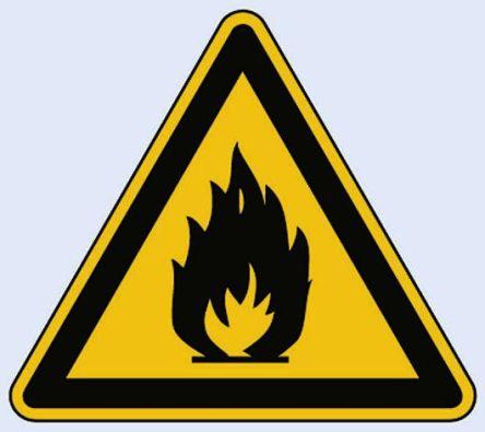 11.0152 1 x Flammable Sign, Black/Yellow Aluminium product photo
