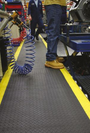 COBA Safety Deckplate Roll PVC Foam/Vinyl Anti-Fatigue Mat