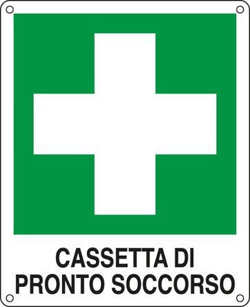 20114x Cartello Di Pronto Soccorso Alluminio Verde Bianco Cartelli