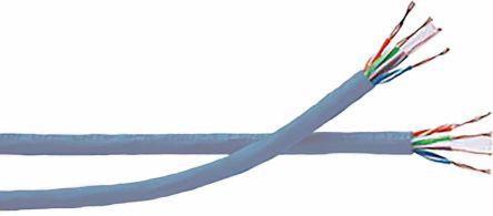 Grey PVC Datatwist Cat6 UTP cable,100m