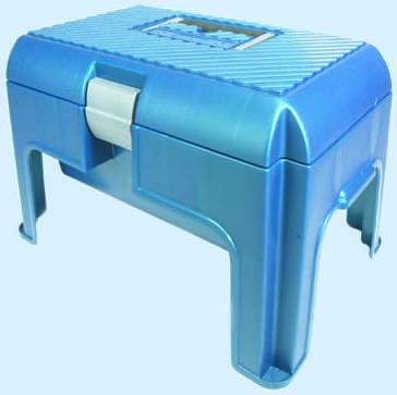 Pleasing R010691 Curver Tool Box Step Polypropylene Blue Silver C W Ocoug Best Dining Table And Chair Ideas Images Ocougorg