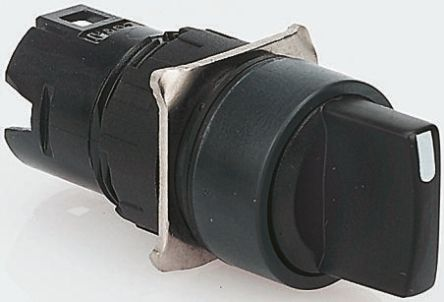 Schneider Electric Harmony XB6 3 Position Selector Switch Head Standard  Handle Black Spring Return to Centre