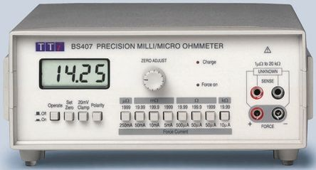 Aim-TTi, Model BS407 Ohm Meter, Maximum Resistance Measurement 20 kΩ, Resistance Measurement Resolution 1μΩ