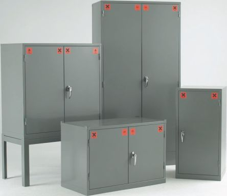 Grey Steel Lockable 1 Doors COSHH Cabinets, 457mm x 457mm x 305mm product photo