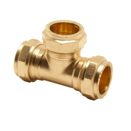 10mm Equal Tee Brass Compression Fitting product photo