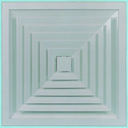 White Aluminium Vent Grille, 445 x 445mm product photo