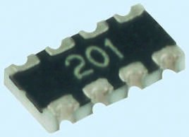 Resistor Networks /& Arrays Resistor Array Chip 0404 2 elements 5 pieces