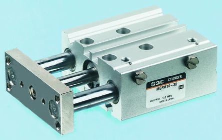 SMC Pneumatic Guided Cylinder 20mm Bore, 100mm Stroke, MGP Series, Double Acting
