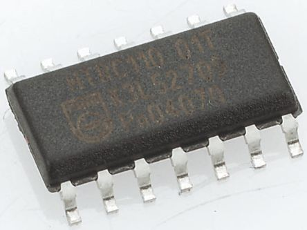 MC14106BDG, Hex Schmitt Trigger Inverter, 14-Pin SOIC