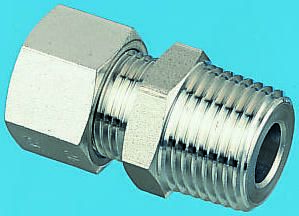 NPT Male Stud Fitting Thread NPT3//8 and 6 mm Stainless Steel Parker 1805 06 18 Compression Fitting