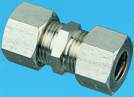 S/steel equal straight connector,8mm OD product photo
