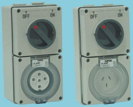 Phenomenal 56C520 Clipsal Electrical Ip66 Grey Surface Mount 3Pn E Industrial Wiring 101 Vihapipaaccommodationcom