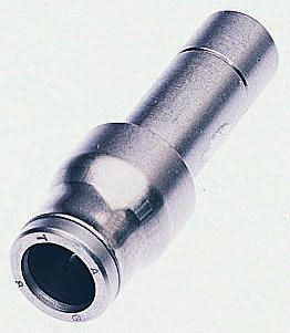3666 Pneumatic Straight Tube-to-Tube Adapter, Plug In 10 mm product photo