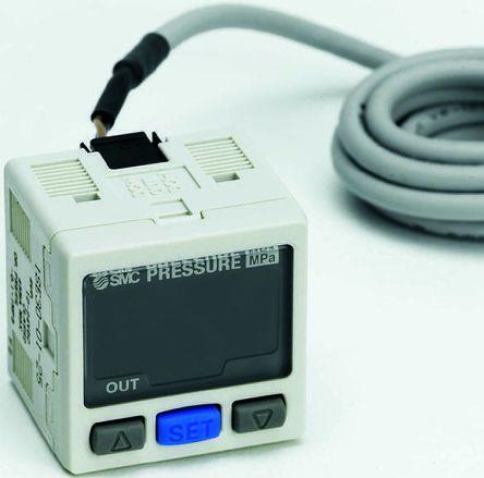 SMC Serie ZSE30A(F), R 1/8 Vakuumschalter für Luft, Gas, 12 → 24Vdc ...