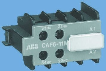 Front Mount Auxiliary Contact with Screw Terminal, 2NC, 12 A, 240 V dc, 500 V ac