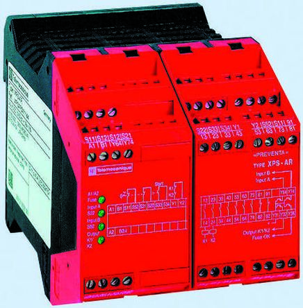 Schneider Electric XPS AR 24 V dc Safety Relay Single or Dual Channel With  7 Safety Contacts