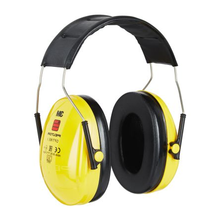3M PELTOR Optime I Ear Defender with Headband, 27dB, Yellow
