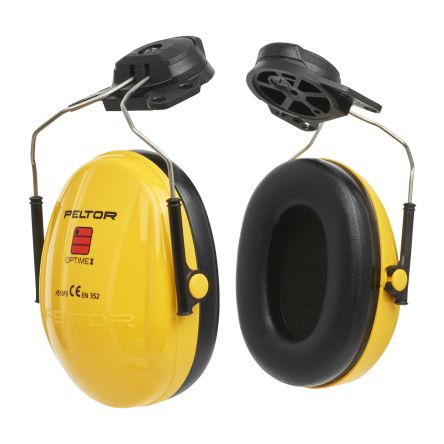 3M PELTOR Optime I Ear Defender with Helmet Attachment, 26dB, Yellow