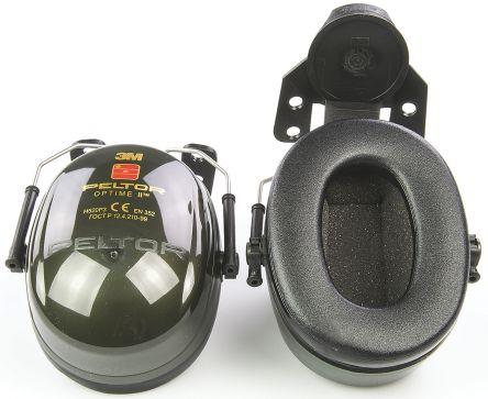 3M PELTOR Optime II Ear Defender with Helmet Attachment, 30dB, Green