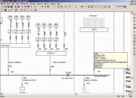 Amtech PRODESIGN 4 Electrical Installation Software