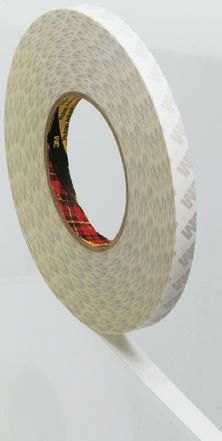 9080 White Double Sided Paper Tape, 25mm x 50m, 0.16mm Thick product photo