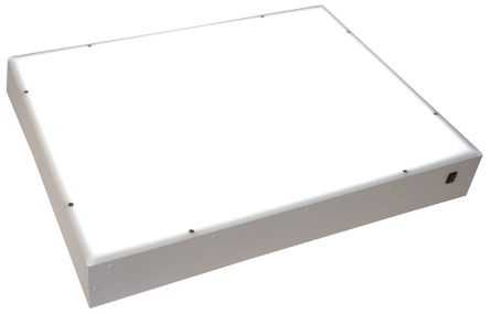 230V ac White Mild Steel Light Box, 20W, 643 x 491 x 123mm