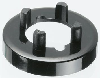 Nut Cover, Nut Cover Type, 11mm Knob Diameter, Black, For Use With Collet Knob product photo