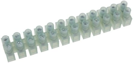 RS Pro Non-Fused Terminal Block, 12 Way/Pole, Screw Down Terminals ...