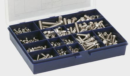 Hex head set screw & nut kit, A4 s/steel