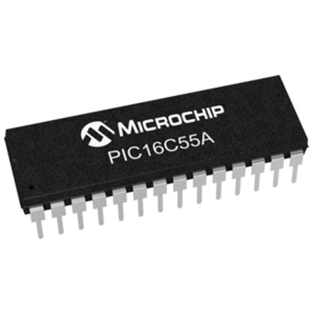 Microchip PIC16C55A-20/P, 8bit PIC Microcontroller, 20MHz, 512 x 12 words EPROM, 28-Pin PDIP