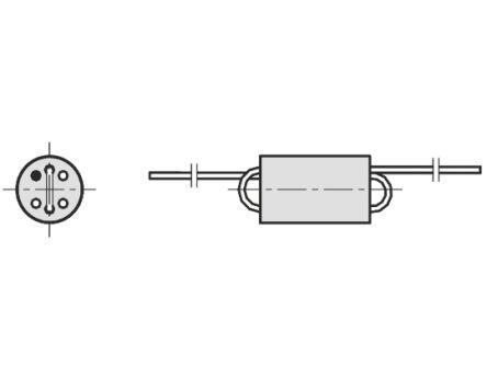 Fair-Rite Ferrite Bead, 6 (Dia ) x 10mm (Axial), 380Ω impedance at 100 MHz