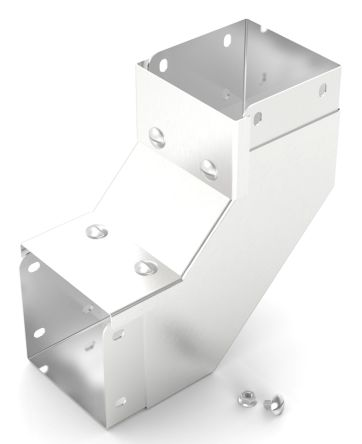 rs pro 304 stainless steel 75 x 75mm cable trunking cover 90 bend