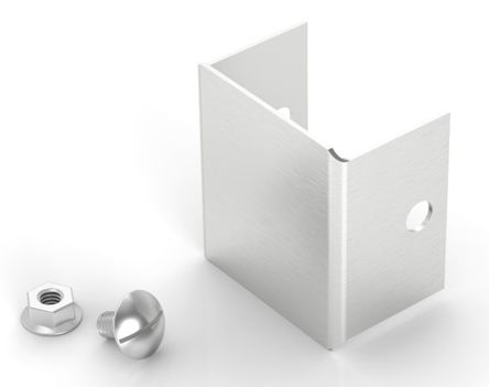 304 Stainless Steel 50 x 50mm Cable Trunking End Plate [Cap] Stainless Steel product photo