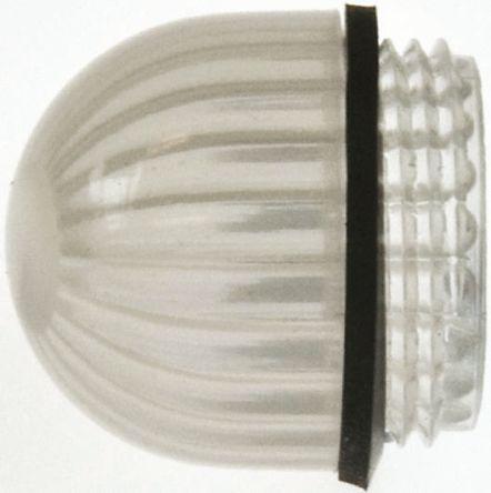 Panel Mount Indicator Lens Domed Style, White, 15.86mm diameter , 15.86 mm Long