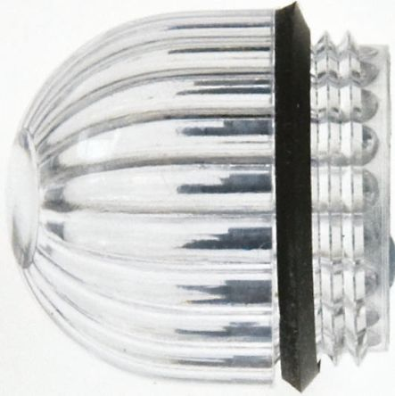 Panel Mount Indicator Lens Domed Style, Clear, 15.86mm diameter , 15.86 mm Long product photo