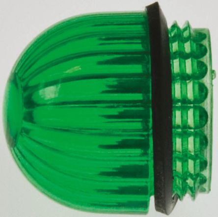 Panel Mount Indicator Lens Domed Style, Green, 11/16in diameter product photo