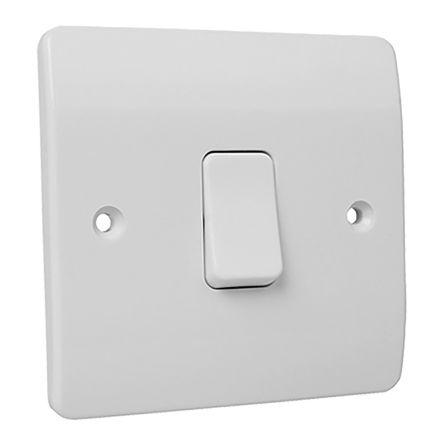 Rocker Light Switch >> White 10 A Flush Mount Rocker Light Switch Mk White 7 Mm 2 Way Screwed Semi Gloss 1 Gang Bs Standard 250 V Ac 86mm Mk Electric Rs Components