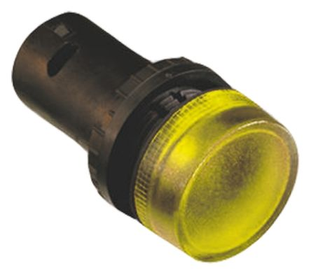 ABB ABB Compact Yellow BA9S Not Included Pilot Light, 22mm Cutout, IP69K, Round, 1.5 A