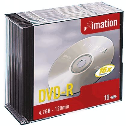 21977   Imation DVDs 4.7 GB 16X DVD-R, 10 Pack   RS Components