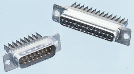 D*W Series 1.27mm Pitch 25 Way IDC D-sub Connector, Plug, Steel Shell product photo